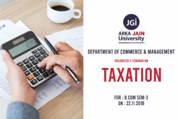 Seminar On Taxation