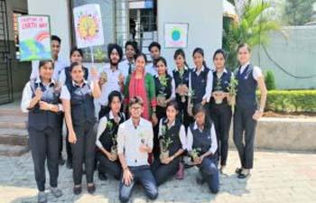 ARKA JAIN UNIVERSITY Celebrates Earth Day at Campus main