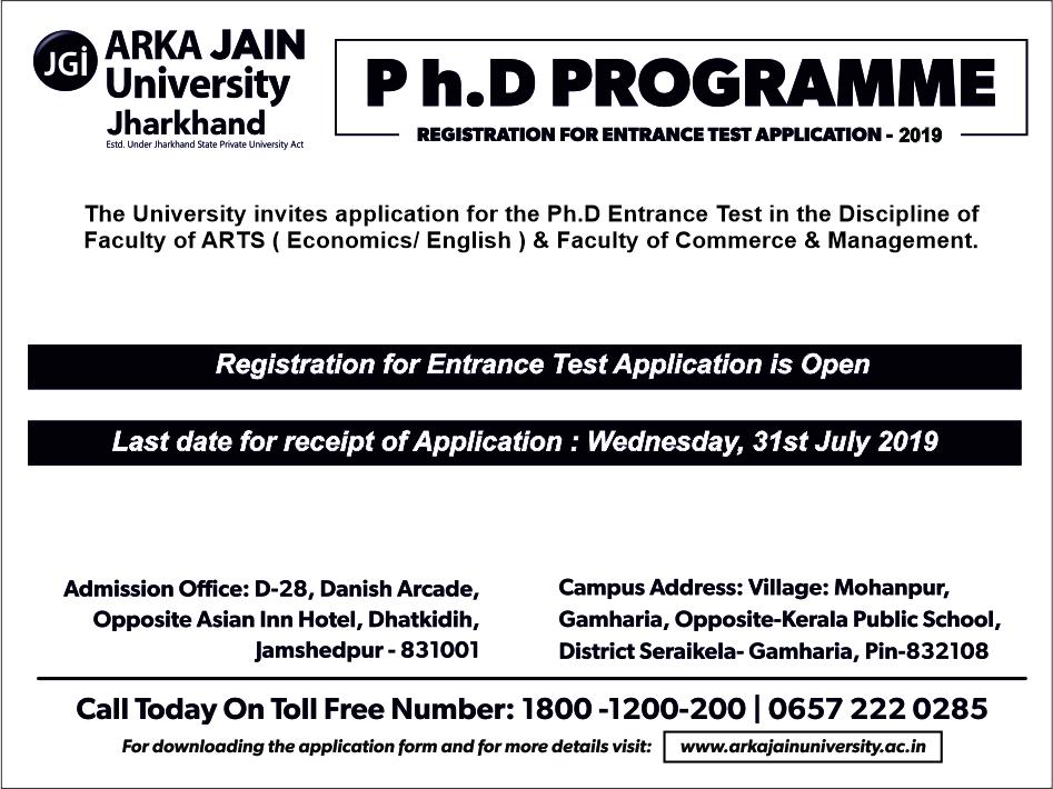 ARKA JAIN UNIVERSITY – University Run by the JGI Group is among the