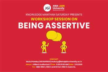 Workshop on Being Assertive