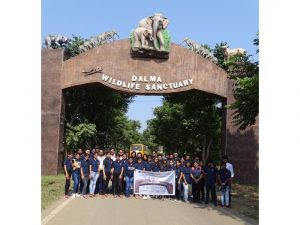 Dalma Wildlife sanctuary visit-Arka Jain University-Journalism & Mass Communication Department-Pic 1