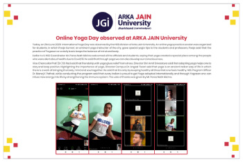 Online Yoga Day day celebrated by NSS-350x233