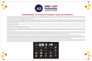 'aarambh'2020 - By School Of Pharmacy, Arka Jain University-350x233