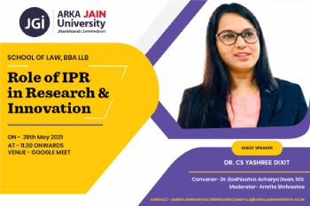 Role of IPR in Research & Innovation 350x233