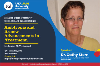 Webinar on Amblyopia and its New Advancement in Treatment350x233