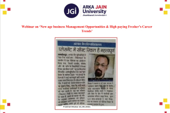 Webinar on 'New age business Management Opportunities & High paying Fresher's Career Trends' 350x233