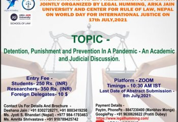 An Academic and Judicial Discussion on Detention, Punishment and Prevention In a Pandemic