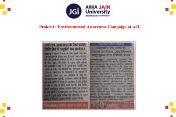 Prakriti Environmental Awareness Campaign at AJU 350x233