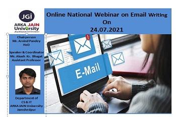 Webinar on Email Writing 350x233