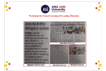 Workshop On Virtual Screening Of Leading Molecules 350x233