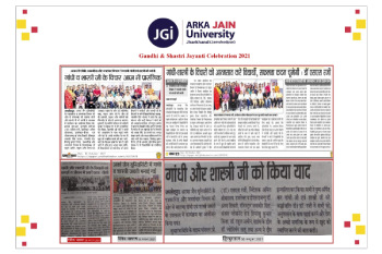 Gandhi and Shastri jayanti celebration Media Coverage 350x233